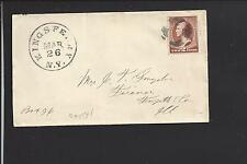 KINGS FERRY, NEW YORK #210 COVER FANCY CL, CAYUGA CO.1807/OP.