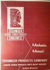Tecumseh 8,10 & 12 h.p Engine Service Manual Complete Overhaul 102pg HH100 HH120