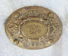 "Motif Brooch 2 1/2"" Fabulous Antique Edwardian Golden Floral"
