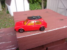 Matchbox Superfast #7 VW Golf / Red Body - Yellow Interior - Amber Windows