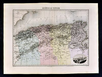 1880 Lacoste Map  North Africa  Algeria Alger Tunisia Tunis Oran - Barbary Coast