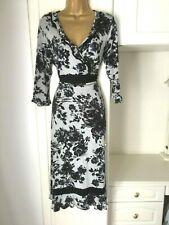 """Per Una size uk 14 R unlined  floral print Tea dress in vg con bust 38"""""""