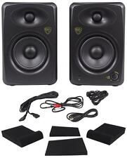 "Pair Rockville ASM5 5"" 200w Powered USB Pro Studio Monitors+Foam Isolation Pads"