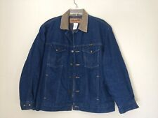 Vintage Wrangler Men's Dark Wash Denim Blanket Lined Jacket Size 42 Made USA