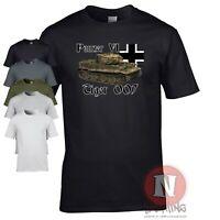 Panzer 6 Tiger 007 tank T-shirt WW2 German military armour Micheal Wittmann