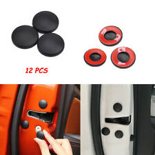 12x Universal Car Interior Door Lock Screw Protector Cover Anti-Rust Cap Trim