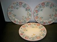 3 CHURCHILL STAFFORDSHIRE ENGLAND FINE ENGLISH TABLEWARE DINNER PLATES 10''