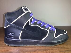 New DS 9 Nike SB Dunk High Purple Black Box MF Doom Grey OG 833456-002 3M Pigeon