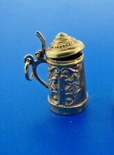 HOORAH Beer Stein 18k Yellow Gold Mechanical Charm