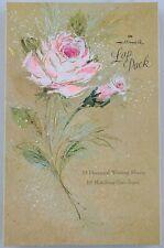 Vintage Hallmark Stationery Lap Pack Pink Roses