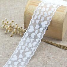 5Yards Elastic Lace Trim Ribbon Fabric DIY Heart Decor Flower Crafts Wide 6cm