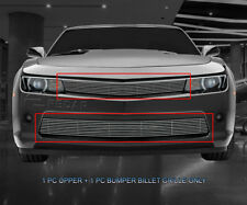 Polished Billet Grille Grill Combo  For Chevy Camaro RS 2014-2015