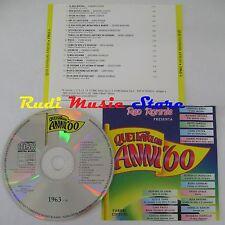 CD RED RONNIE favolosi anni 60 1963 6 BINDI DOMENICO MODUGNO PAOLI TONY*(C6*)