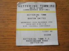 26/12/1990 Ticket: Kettering Town v Boston United  (Slight Folding Around Edges)