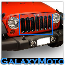 07-15 Jeep JK Wrangler All Black Trim 7pcs Grille Cover Insert Mesh Grill Shell