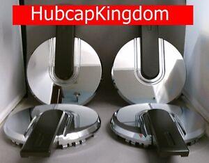 NEW 2006-2010 HUMMER H3 H-3 CHROME w/ BLACK BAR Wheel Center Hub Cap Hubcap SET
