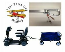 Mobility Scooter Trailer  Tow Bar/Hitch with Shopping Trolley Cart  2 Colours