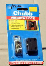 Chub Window Lock in Brown for Hinged Wooden Window