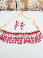 **Bollywood jewelry set - Bridal Jewelry - pink an gold Neu**