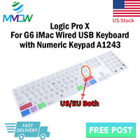 Logic Pro X Shortcuts Silicone Keyboard Cover for iMac G6 Numeric Keypad A1243
