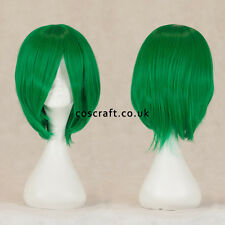 Long straight layered bob cosplay wig in forest green, UK SELLER, Lily style