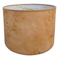 Royal Designs Light Brown Wood Texture Hardback Lamp Shade