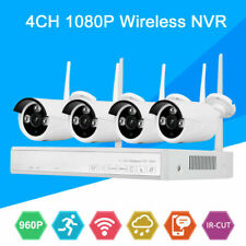 4Ch Wireless Outdoor Hdmi Ip Wifi Camera Video Security System Surveillance Kit