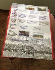 Civil War 1861-1865 Set of 5 commemorating the War. 12 Forever Stamps per sheet