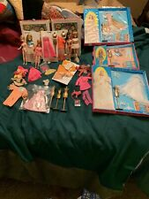 Topper Dawn' 2 Cases, 3 New In Package, 5 Dolls And Clothes Sets