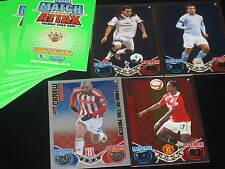 MATCH ATTAX football trading card 10/11 green backs 28 base cards, showboat MOTM