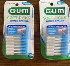 G U M  SOFT-PICKS PACK OF 100 ( Pack of 2)