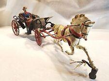 rare ORIGINAL 1890's PRATT & LETCHWORTH Cast Iron PHAETON WAGON w/LADY DRIVER