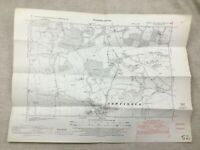1950 Vintage Mappa Di Occidente Sussex Newtimber Poynings