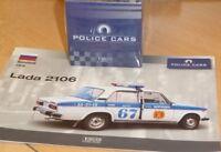 ATLAS Police Car Edition Lada 2106 VAZ 1976 + Atlas Police Cars Collection 1:43
