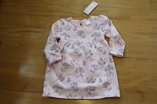 NWT Gymboree Mouse & Moose Pink Forest Print Knit Dress & Diaper Cover 18-24 mos