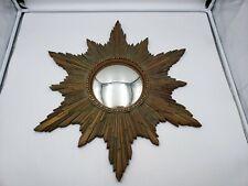 Syroco Mid Century Hollywood Regency Starburst Convex Mirror
