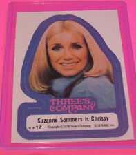 TOPPS 1978 THREE'S COMPANY TRADING STICKER CARD #12 SUSAN SOMMERS FREE SHIPPING