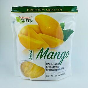 1 Bag Paradise Green Premium Dried Mango, 35.2 oz/1000 g Fresh