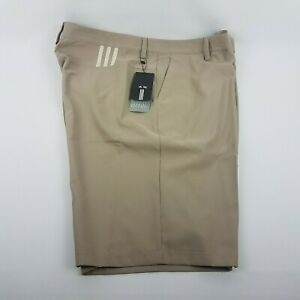 adidas Men ClimaLite 3-Stripe Khaki Golf Shorts 175PA MSRP $65