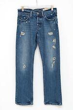 Herren Hollister Jeans Balboa Ripped Used-Style Blau W31 L32 31/32 EXC