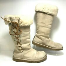 Women's AUTHENTIC UGG AUSTRALIA UPSIDE SUEDE BOOTS Size 7