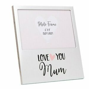 MUM Mothers Day Gifts Love You Novelty Sweet Ideal Present Aluminium Photo Frame