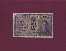 Southern Rhodesia 5 shillings February 1945 P-8b VF+