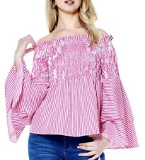 Gracia Striped smocking detail top  Size S /Pink