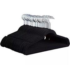 1 Case Of Felt Hangers Black Velvet 200pcs  Clothing Thin Non Slip