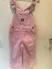 John Deere Girl/'s Bib Coveralls Pink Camouflage Authentic Logo NWT Choose Size