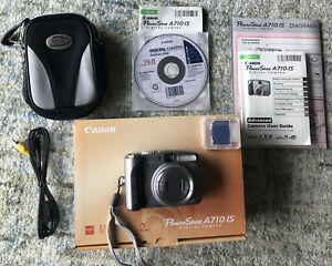 """Canon PowerShot A710 IS 7.1MP Digital Camera - With Accessories """"Never Used"""""""