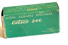 Ancienne Boite vide de 10 000 Agrafes spéciales Ceteco 246 agrafeuse