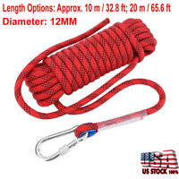 10/20Meter 12mm Climbing Cord Survival Safety Rappelling Rescue Auxiliary Rope