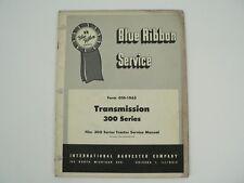 Transmission 300 Series Tractors Service Manual International Harvester 1955